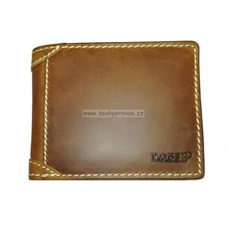 Pánská kožená peněženka Lagen 511462 sv.hnědá