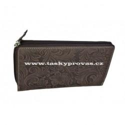Dámská kožená peněženka DD D206-33 hnědá (ražba)