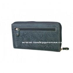 Dámská kožená peněženka DD D206-36 tm.modrá (ražba)