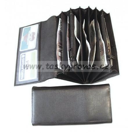 Arwel černá kožená  kasírka  515 - 2401 černá