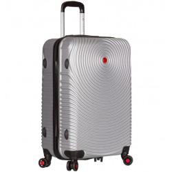 Cestovní kufr SIROCCO T-1157/3-M ABS - stříbrná