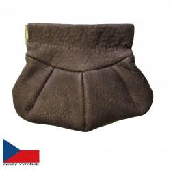 Hajn kožená peněženka-klíčenka( drobněnka Pick-Pack )  500801.0 hnědá