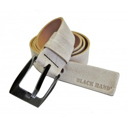 Kožený opasek Black 091-83 hnědý styr