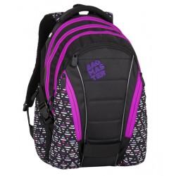 Studentský batoh Bagmaster BAG 8 A BLACK/PINK/VIOLET