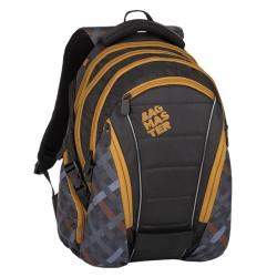 Studentský batoh Bagmaster BAG 8 E BLACK/GRAY/BROWN