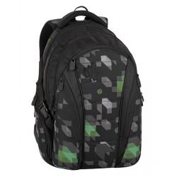 Studentský batoh Bagmaster BAG 8 G BLACK/GREEN/GRAY