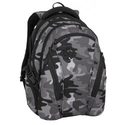 Studentský batoh Bagmaster BAG 8 CH BLACK/GRAY/WHITE
