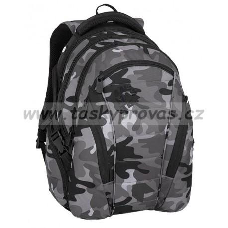 Studentský batoh Bagmaster BAG 8 CH BLACK GRAY WHITE b5f9631a61