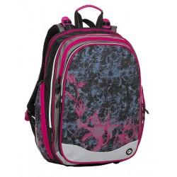 Školní batoh Bagmaster ELEMENT 8 A BLACK/GRAY/PINK