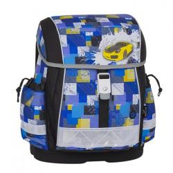 Školní aktovka  Bagmaster EPSON 8 B BLACK/BLUE/YELLOW