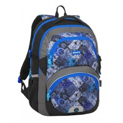 Školní batoh Bagmaster THEORY 8 D BLACK/BLUE/GREY