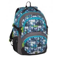 Školní batoh Bagmaster THEORY 8 C BLACK/BLUE/GREY