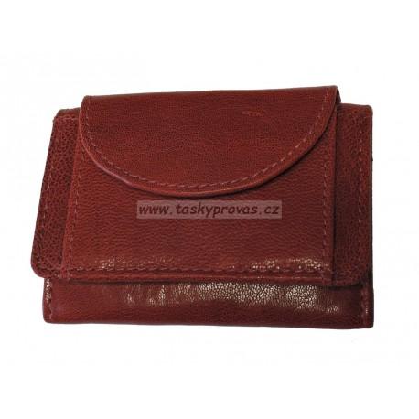 Malá kožená peněženka DD D 919-07 červená
