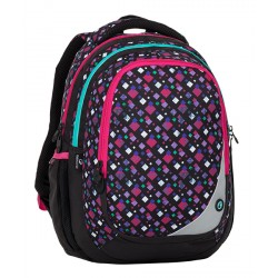 Školní batoh Bagmaster MAXVELL 8 A BLACK/PINK/GREEN