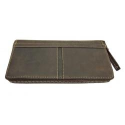 Dámská kožená peněženka Tom 1004/80 tm.hnědá