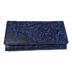 Dámská kožená peněženka DD 1264-36 modrá tisk
