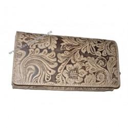 Dámská kožená peněženka Tal 12026 světlá tlačená
