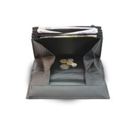 Kožená číšnická peněženka s přehlednou kapsou na mince ARWEL 515-2401B černá