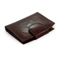 Tmavě hnědá kožená peněženka se zápinkou Arwel 511-1083