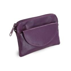 Klíčenka kožená Arwel 619-0365 purple
