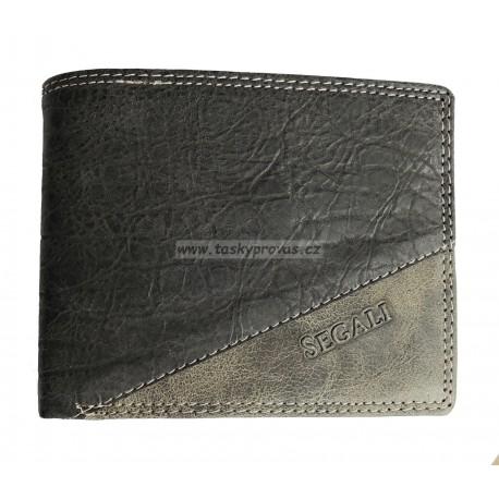 Pánská kožená peněženka Segali 1301/K black/grey