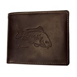Pánská kožená peněženka Talacko 12005 hnědá ražba kapr