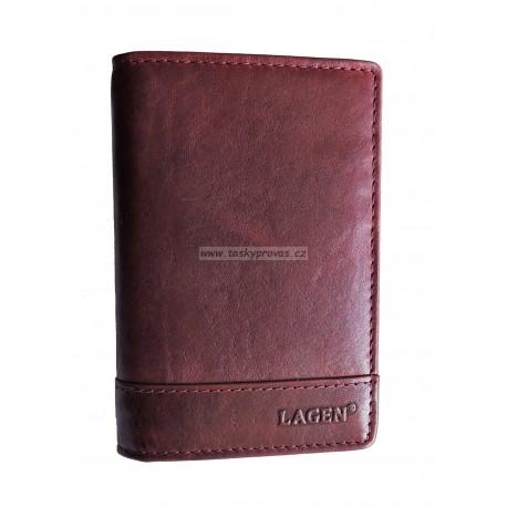 Lagen pouzdro na doklady kožené V-60/T vínově červené
