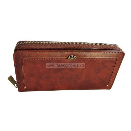 Dámská kožená luxusní peněženka Katana 388127 brown
