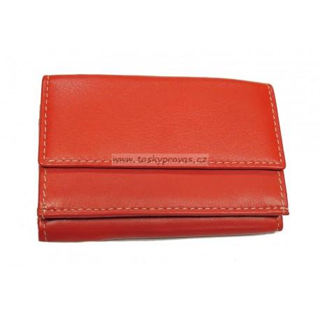 Kožená mini peněženka Arwel 511-4392A červená