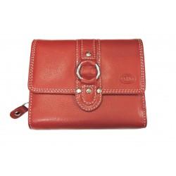 Dámská kožená peněženka DD 1748-07 červená