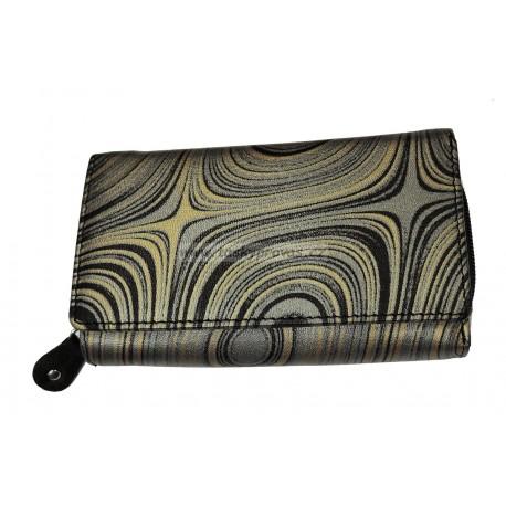 Dámská kožená peněženka DD X 41-87 černá/šedá/zlatá