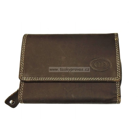 Dámská kožená peněženka DD A 023-03 hnědá