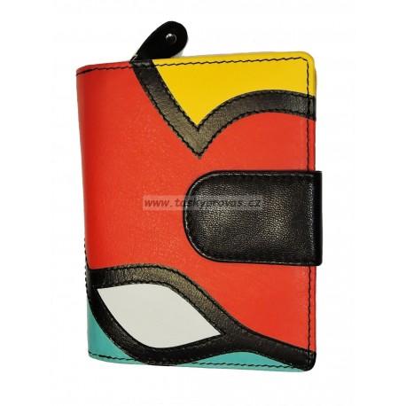 Dámská kožená peněženka DD 2812-51 vícebarevná