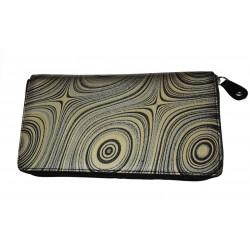 Dámská kožená peněženka DD 901-87 černá/šedá/zlatá