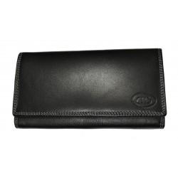 Dámská kožená peněženka DD D 594-01 černá