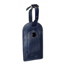 Kožená visačka na zavazadlo DD S 400-06 tm.modrá