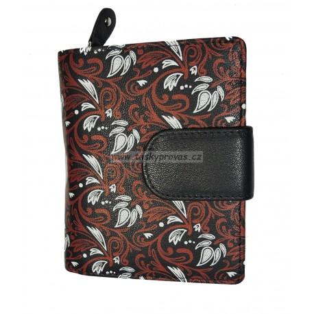Dámská kožená peněženka DD 2811-06 tm.modrá/barevný potisk