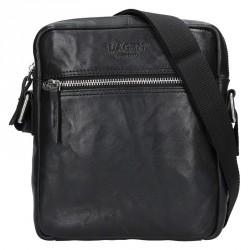 Lagen 222-2 černá kožená crossbody taška
