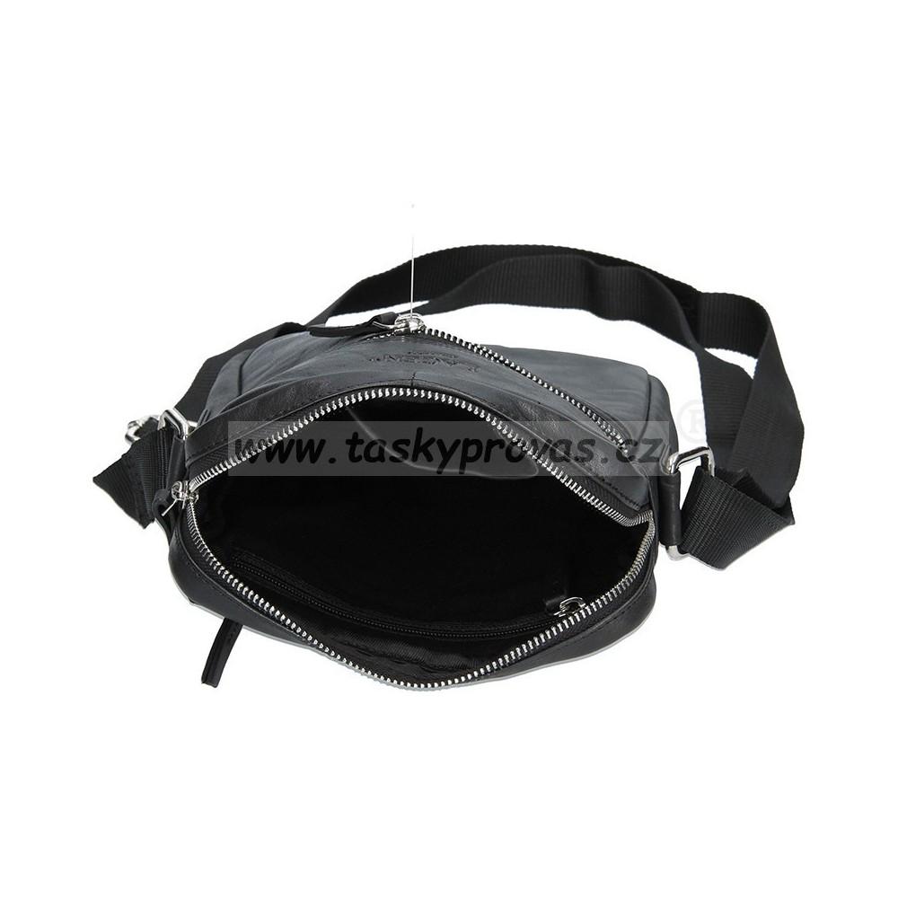 Lagen 222-2 černá kožená crossbody taška d9d9c5277c9
