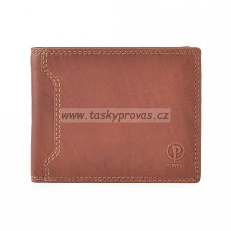 Pánská kožená peněženka Poyem ANDORA 5205 koňaková