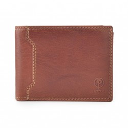 Pánská kožená peněženka Poyem ANDORA 5208 koňaková