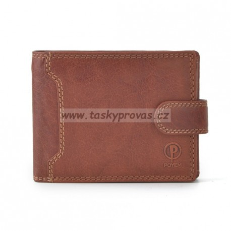 Pánská kožená peněženka Poyem ANDORA 5209 koňaková