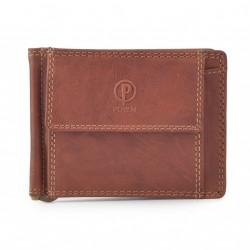 Pánská kožená peněženka dolarka Poyem ANDORA 5210 koňaková
