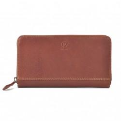 Dámská kožená peněženka Poyem ANDORA 5212 koňaková