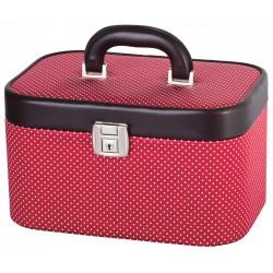 DUP kufr kosmetický 230804-009 červený-bílé puntíky