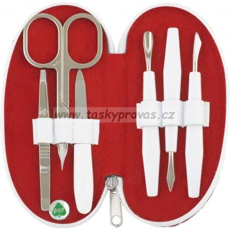 DUP manikúra 230404-010 červený nylon s tečkami