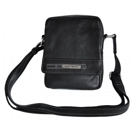 Kožená taška přes rameno SendiDesingn SD-100 black
