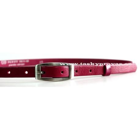 Opasek dámský kožený Penny Belts 15-2-53 tm.růžový