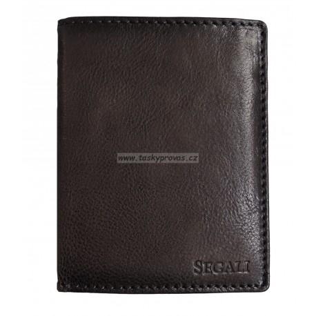 Pánská kožená peněženka Segali 81225 d.brown
