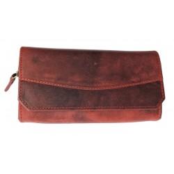 Dámská luxusní kožená peněženka Talacko 1800 tm.červená